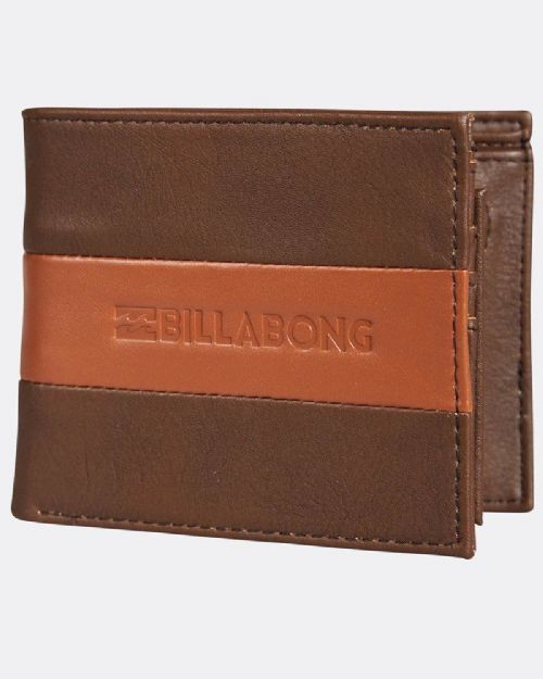 BILLABONG MENS WALLET.TRIBONG BIG BILL FAUX LEATHER REMOVABLE CARD PURSE 8S 07 9